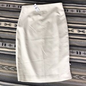 Express ivory pencil skirt
